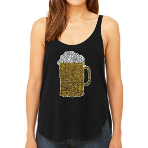 Women's Word Art Flowy Tank Top  SLANGS FOR WASTED